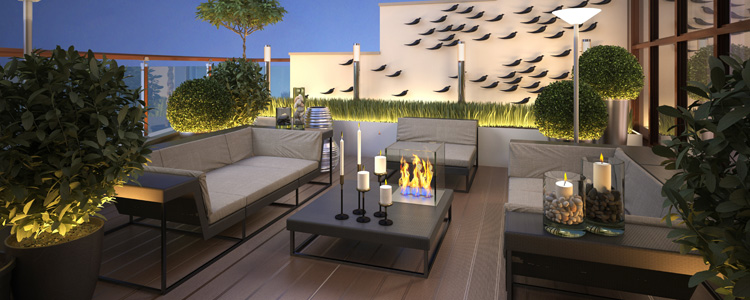 luminaires pour terrasse guide artisan. Black Bedroom Furniture Sets. Home Design Ideas