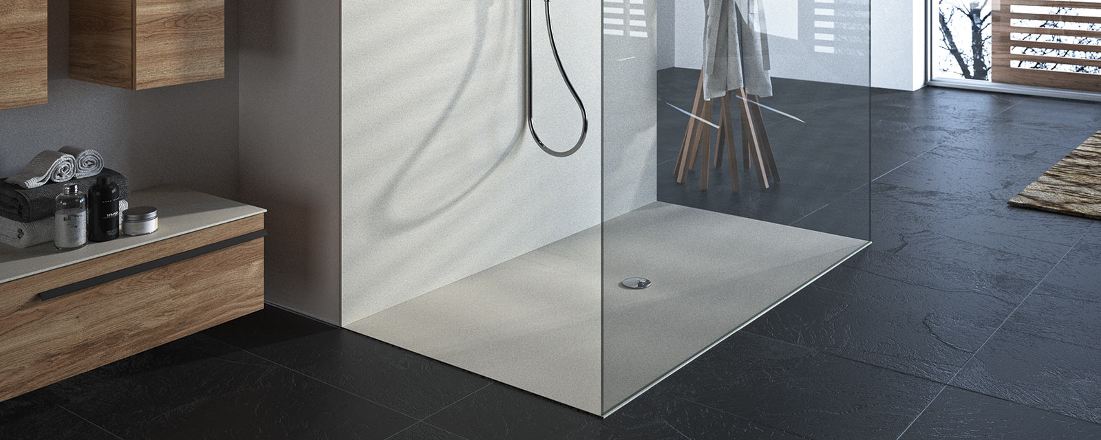 Choisir une douche italienne ou un receveur extra plat - Realisation d une douche a l italienne ...