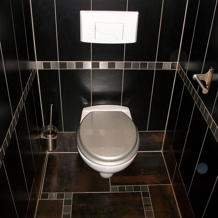 Pose toilette suspendu - Idee carrelage toilette ...